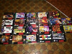 super nintendo snes BOXES AND MANUALS ONLY -- NO GAMES INCLUDED