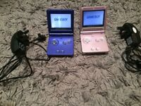 gameboy sp consoles in full working order with chargers