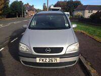 Opel Zafira 2001 1.6 petrol. Mileage 131833. 7 seats. Back windows tinted. Tow bar. Full years MOT