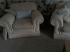 Two seat sofa two armchairs good condition