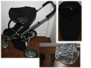 Quinny Buzz + Bassinet + Maxi Cosi Car Adapters + Rain Cover