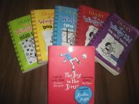 A selection of Diary of a wimpy kid books