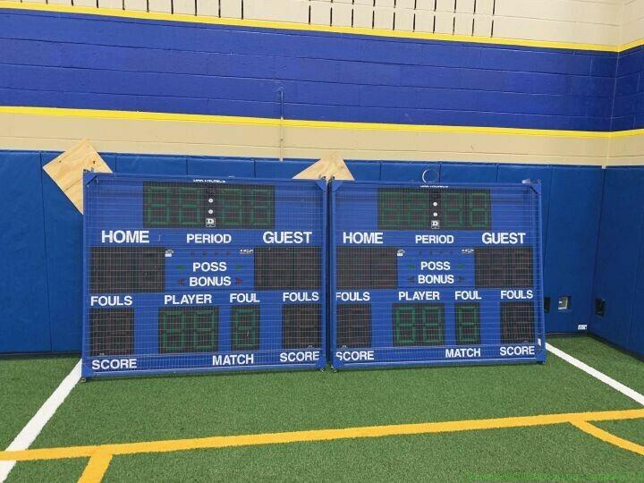 1 Daktronics BB-1713 Scoreboard with All Sport  Scoreboard Controller Multisport