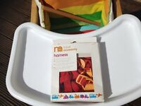 Mothercare Wooden High Chair / Table (with cushion & harness)