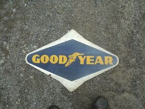 LOVELY METAL SINGLE SIDED GOODYEAR TIRE ADVERTISING SIGN