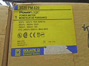 SQUARE D POWERLOGIC POWER METER 3020 PMD-32 PM-620 ~ NEW!