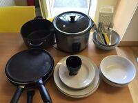 Ceramic Plates, Pans , Rice Cooker (Forks/Knives/Forks)