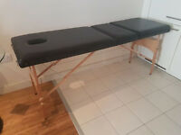 Adjustable mobile massage table / beauty therapy