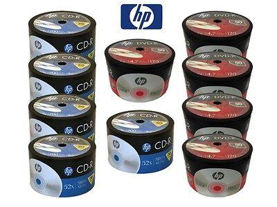 500 Hp Logo Blank Disc Combo (250 Pieces 16x Dvd-r & 250 ...