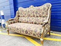 Antique Gilt Framed Parlour Sofa - Retro, Vintage, Antique