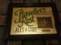 Travellers Rest Ales & Stout - Mirror - Good Condition