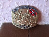 The Confederate States Johnny Reb Buckle 1988 Solid Brass