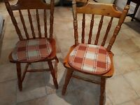 2 Farmhouse kitchen chairs