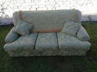 FREE classic 3 seater traditional sofa with original covering in a good condition.