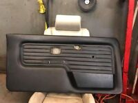 Bmw E30 black vinyl door cards