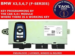 KEY PROGRAMMING FOR BMW X3,5,6,7 SERIES BY THE CAS4/CAS4+ BOX