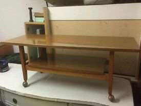 Retro coffee table in perfect conditon. On casters. Buyer collects from Michaelstow. Cornwall