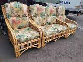 Wicker Conservatory Suite, 2-seater and 2 chairs