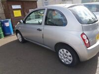 Nissan Micra 2003 automatic, silver. Low mileage, one year MOT. Great condition.