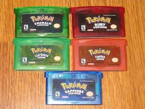 Pokemon GBA Games Nintendo Game Boy Advance