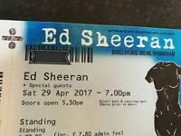 - Ed Sheeran - Birmingham - Barclaycard Arena - Standing -