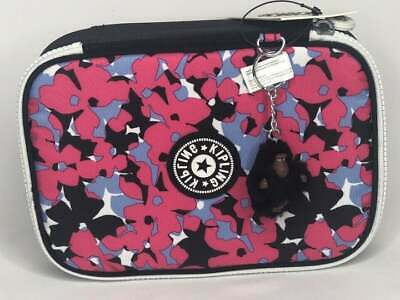 Kipling 100 Pens Pencil Case Spicy  Floral Print  New