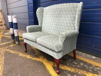 VINTAGE STYLE HSL BUCKINGHAM 2 SEATER SOFA/ COUCH - AS NEW CONDITION