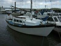 Falmouth gypsy 24. project only.Needs attention. Afloat for 5 yrs on medway.