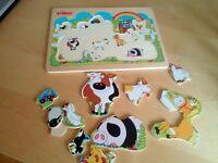john crane wooden animal puzzle
