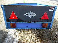 klinn trailer 5ft x 3ft all metal with fixed lights fair condition collection only