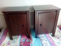 pair of bedside lockers. six months old