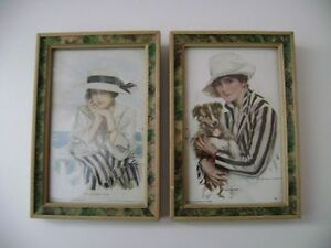 "AUTHENTIC Harrison Fisher Prints (6.25"" x 4.25"")"