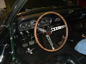 65-66 Mustang 15 inch Wood Grain Steering Wheel