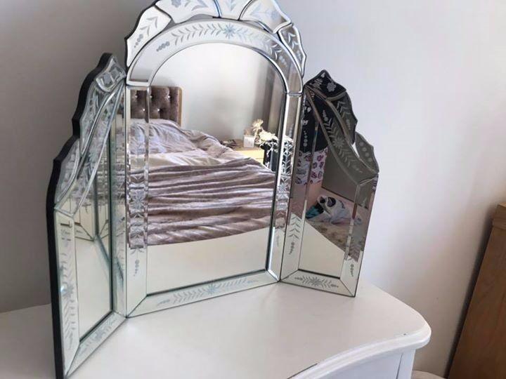 vanity mirror shabby chic elegant