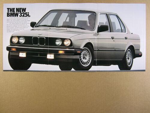 1987 BMW 325i Sports Sedan color photos vintage print Ad
