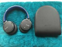 A Bluetooth headphone with noise cancelling Sony MDR-ZX770BN