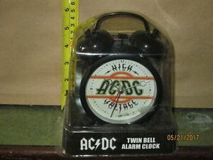 NEW ..Collector AC/DC Twin Bell Alarm Clock
