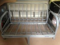 Metal double sofa bed frame. No futon