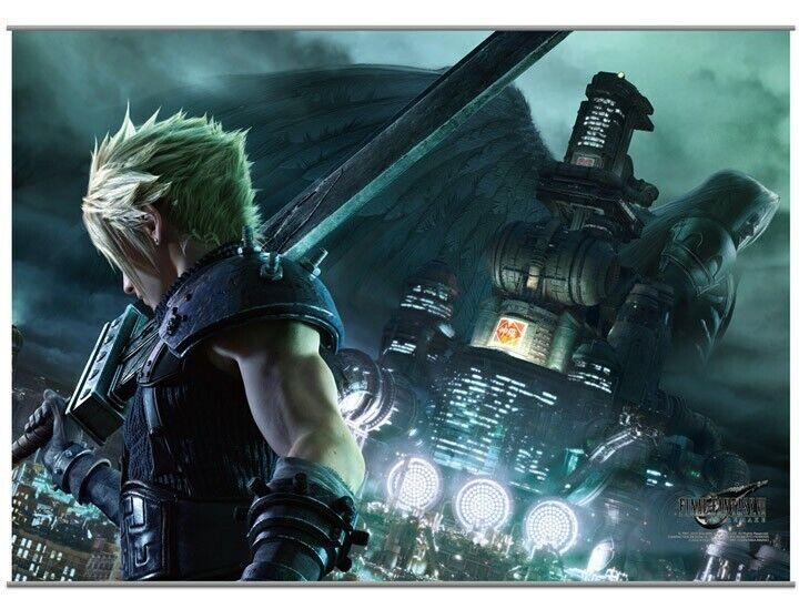Square Enix Final Fantasy VII 7 REMAKE Wall Scroll Vol.1 Cloud & Sephiroth NEW