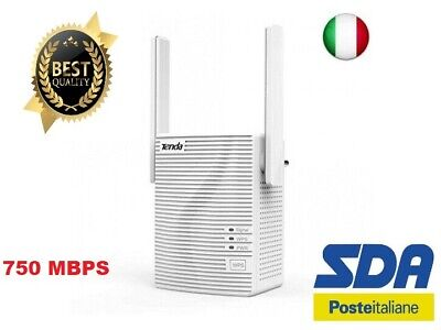 Tenda A15 Ripetitore WiFi Range Extender Universale AC Dual Band 750Mbps NEW MOD