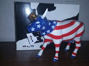 "Cow Parade #9189 ""American Royal"" 2001 Retired - Ceramic Figure"