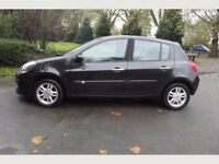 2007 CLIO 1.4 DYNAMIQUE, LOW MILEAGE, 55 MPG, LOW INSURANCE, 5-DOOR, BLACK, PART-EXCHANGE WELCOME