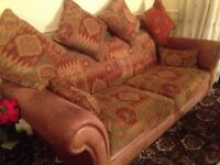 3 + 2 Seater Parker Knoll Fabric Sofa Luxury. Great condition