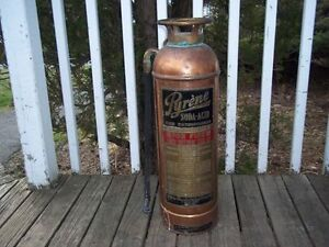 Antique Copper Pyrene Fire Extinguisher, EXCELLENT CONDITION
