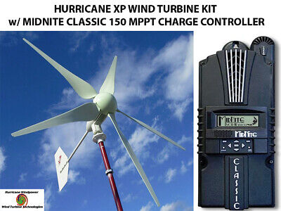 Hurricane Xp 48v Wind Turbine Kit 1kw And Midnite Classic 150 Charge Controller