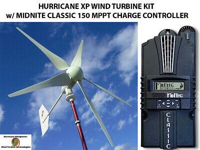 Hurricane Xp 24 Volt Wind Turbine Kit 1000 Watt W Midnite Classic 150 Control