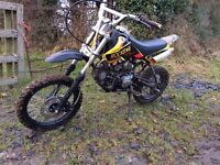 110 cc Pit bike (not quad scrambler dirt bike motorbike field car stomp )
