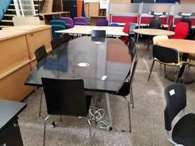 Boradroom table with built in sockets and 8 Chairs - Delivery Available