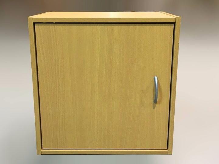 Oak Effect 1 Door Storage Cube