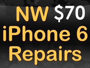iphone 6 replacement only $70, iphone 5,5c,5s only $55
